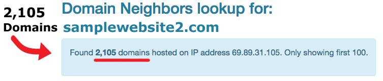 Domain Neighbors Lookup Website Site Speed Google Ranking